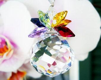 Swarovski Crystal Suncatcher Chakra Hanging Crystals Rainbow Prism Sun Catcher Feng Shui Decor