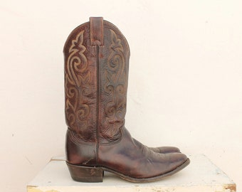 vintage Justin cowboy boots mens sz 9.5 made in USA