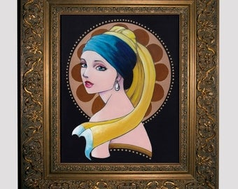 8x10 Girl With A Pearl Earring Fine Art Print by Leilani Joy
