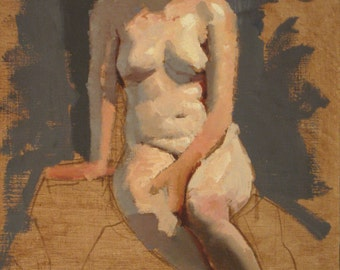 Color sketch of Larissa - original oil painting (FP 57)