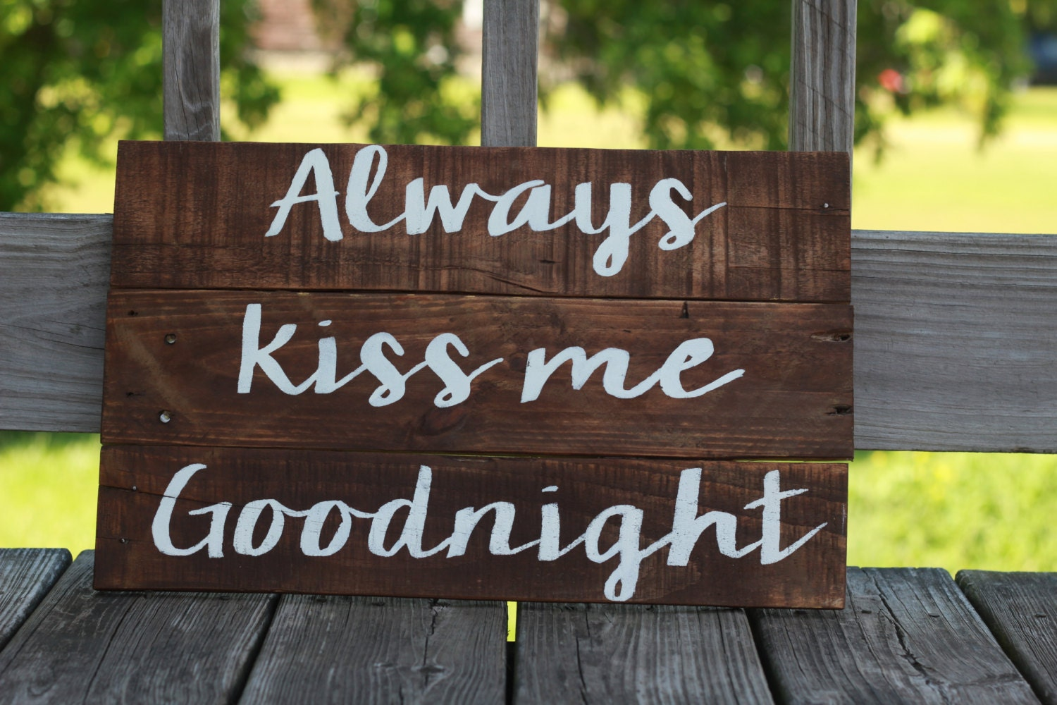 Reclaimed Wood Wall Art Reclaimed Wood Sign Always Kiss Me. Bird Signs. Wrinkled Finger Signs Of Stroke. Community Acquired Pneumonia Signs. Salt Signs. Infographic Infographics Signs. Oven Signs. Ocd Signs. Utility Room Signs Of Stroke