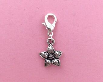 Jasmine flower bracelet charm, flower jewellery, jasmine flower, flower charm, gift for her