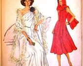 very easy vogue pattern 9347 - misses evening dress and stole - (1970s) - UNCUT