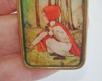 Red Riding Hood  Jewelry  Brooch