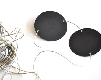 Chalkboard Blackboard Paper Circles Set of 10