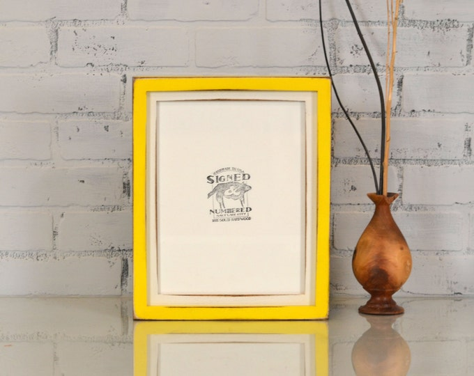 "8.5x11"" Picture Frame in 1x1 Deep Flat Build Up Style and Vintage Finish Color Combination OF YOUR CHOICE - 8.5x11 Frame - Letter Size frame"