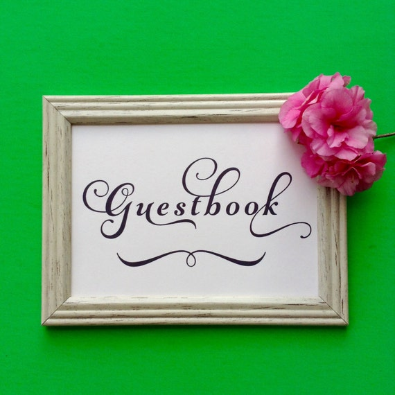 Guestbook Sign, Printable Wedding