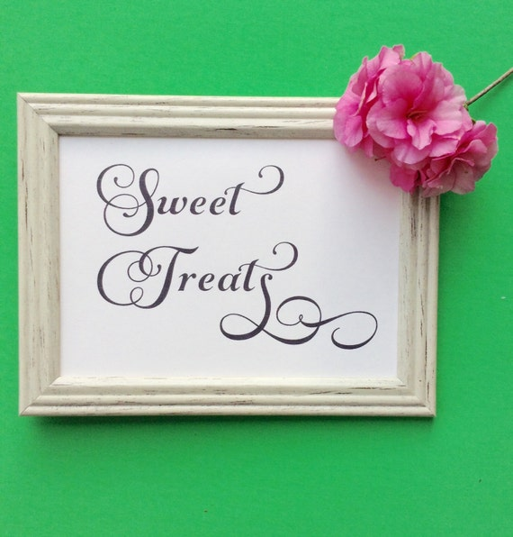 Printabel Wedding, Sign, Sweet Treats, Dessert Table