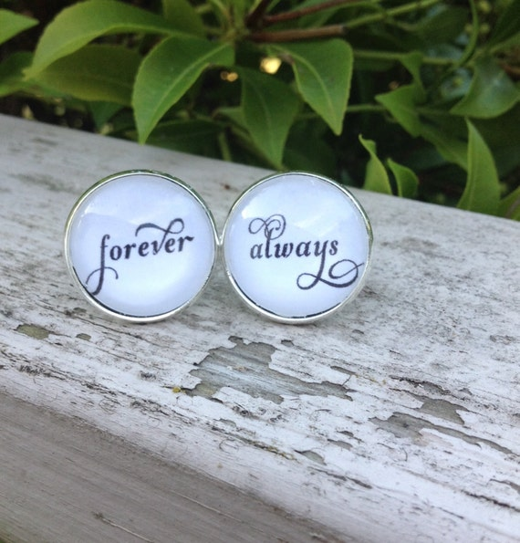 Cufflinks, Always and Forever, Anniversary Gift, Groom Gift