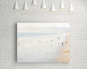 Canvas Print // Gallery Canvas // Santa Monica Beach Photography // Los Angeles Photography // Large Beach Canvas // Large Wall Art