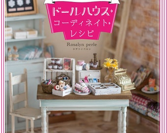 Japanese Dollhouse & Doll Clothing Pattern Book,  Dolly-Dolly Books, Neo Blythe Dress, Doll Outfit, Furniture, Easy Tutorial, Ruruko, B1608