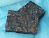 African Black Soap & Shampoo Bar-Raw Anago Soap-Ghana Inspired-with Cocao,Shea AND Plantain