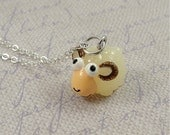Aries Ram Charm Necklace, Aries Ram Charm on a Silver Plated Cable Chain