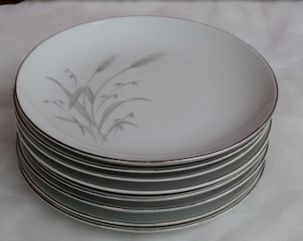 4 Fine China of Japan Spring Wheat Bread and Butter Plates