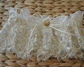 Ready To Ship, Gold Lace Garter, Wedding Garter, Lace Garter, Bridal Garter, Eyelash Lace Garter