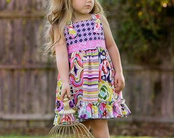 Knot Right Now Dress or Top- Girls Knot Dress Pattern, Girls Dress Pattern, Matilda Jane Pattern, Persnickety Pattern, Girls Top Pattern