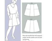 Maude Skirt Pattern by Lazy Seamstress