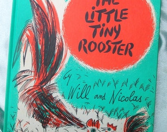 Vintage The Little Tiny Rooster 1960 - Amazing Mid Century Illustrations - Children's Book