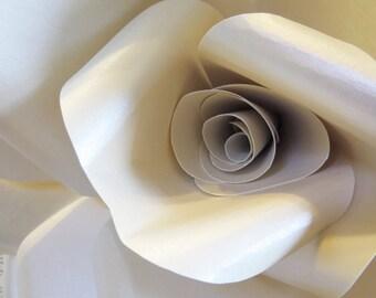 FAERIE IVORY OPAL paper wall rose - wall decor wall art paper sculpture - Flower Taxidermy No.86