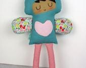 Helena- Love Fairy doll, rag doll, handmade doll