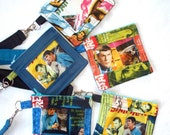 Star Trek Mr. Spock,Captain Kirk ID Holder Lanyard,Work ID,Pass Holder,Trekkie Quilted Coin Purse,Key Chain Wallet,Work Security Badge Pouch