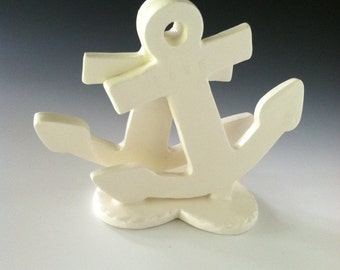 Love Anchor Wedding or Anniversary Cake Topper