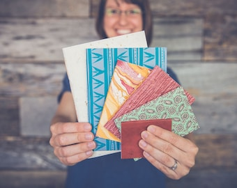 Small, on-the-go handbound notebooks
