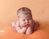 Newborn rhinestone tieback, 8 designs, newborn girl, newborn headband, newborn photo prop, newborn halo