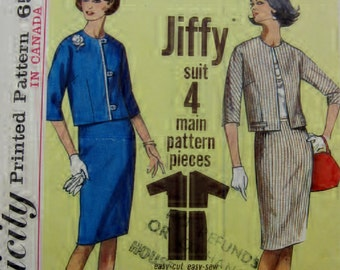 Simplicity 5830 CoCo Style Jacket & Skirt Jiffy Suit Size 14
