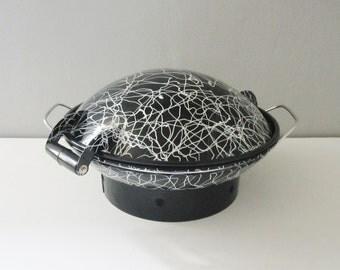 Vintage 4 pc Enamel Serendipity Wok / Paella /Cookware