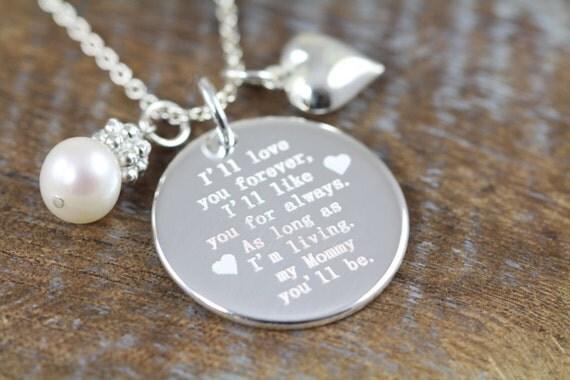 Ill Love You Forever Poem Pendant Gift