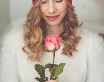 Pink Turban Hat, Turban Bow Hat, Retro Fashion Turban, Women's Headband for Hair Loss