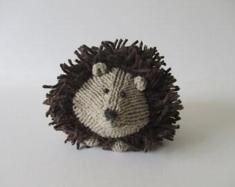 Tweedy Hedgehog toy knitting patterns