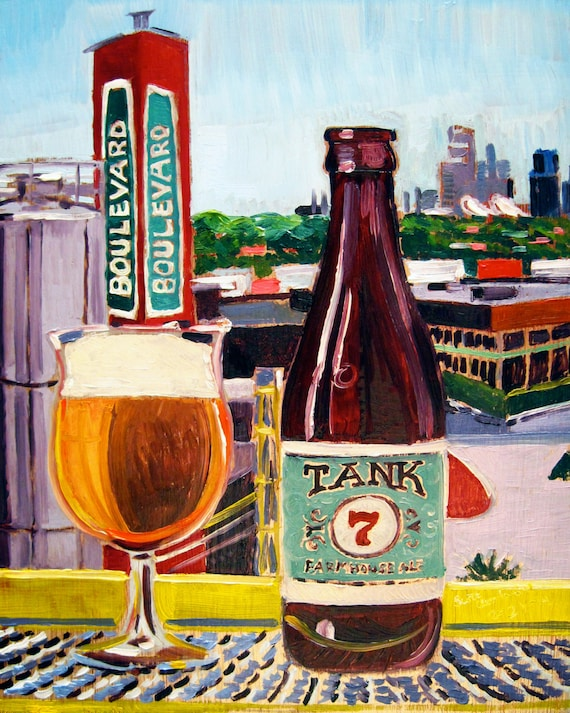 Beer Art Print of Tank 7 Farmhouse Ale by by RealArtIsBetter
