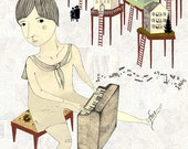 Piano Pals - A set of two illustrations