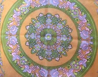 Vintage 60s 70s Floral Scarf