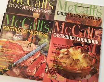 1960's McCall's Cookbook Collection Series - 4 Cookbooks from the series