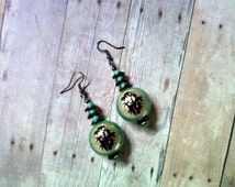 Unique Bamboo Earrings Related Items Etsy