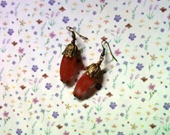 Cherry Quartz Earrings (2042)