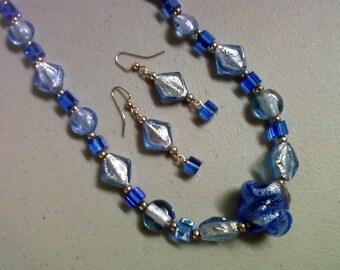 Blue Twist Necklace (0223)