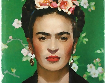 Frida Oil Digital Print