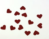 Little Red Glitter Hearts - Table Scatter confetti - Cardstock Hearts - .5 inch hearts - Wedding and Party Decoration