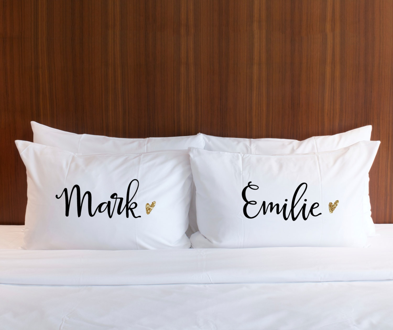 Personalized Gift Pillow Cases Couples Personalized Name
