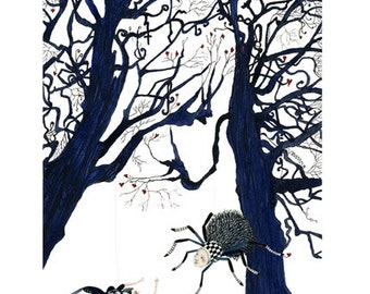 Tree print Tree spiders 8x11 Giclee print