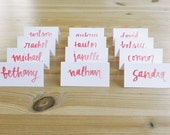 CALLIGRAPHY PLACE CARDS, custom calligraphy, style #5 - custom for cassandra - wedding, event, seating chart, name cards