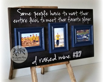 Football Mom, Football Decor, Personalized Football, High School Football, Senior, Some People Have To Wait, 16x30 The Sugared Plums Frames