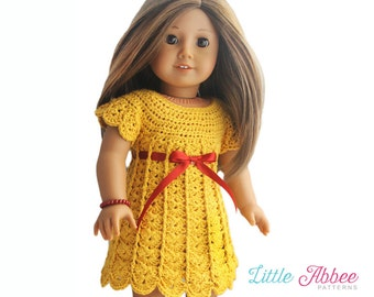 "Download Now - CROCHET PATTERN 18"" Doll Sweater Dress PDF 105"