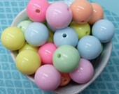 10x 18mm Resin Pastel Multi color Globe beads .. Candy Fun