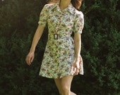 60s Mini Dress Floral medium