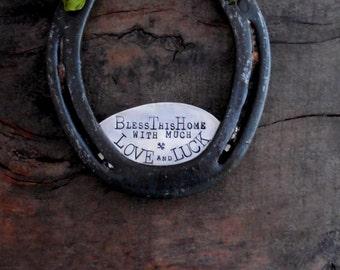 The Shamrock Love and Luck Horseshoe™ Traditional Symbol of Good Luck. Handmade Original Design by Sycamore Hill. Irish Charm. Irish Wedding
